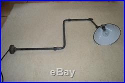 Rare Lampe Plafonnier ou Applique Potence Gras Coudée Modèle 312