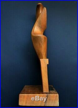 Rare Sculpture Mouvement Futuriste Italie 1979 De Giuseppe Carli Forcolo Signee
