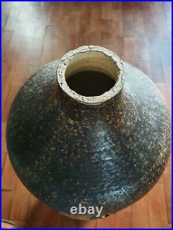 Rare ancien enorme lampe de sol en céramique Georges PELLETIER Vallauris 77cms