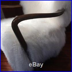Rare fauteuil de Viggo Boesen édition Hos Wulff circa 1934 en mouton tibetain