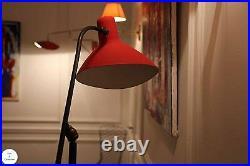 Rare lampadaire stilnovo 1950, excellent état, entièrement d'origine