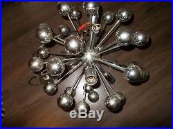 Rare lampadaire suspension SPUTNIK 5 Lampes Vintage années space age design