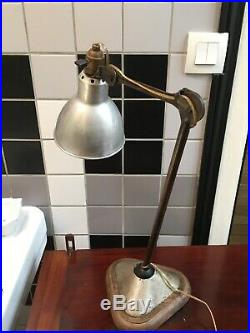 Rare lampe Bernard Albin GRAS modèle 206 bielle plate 1920