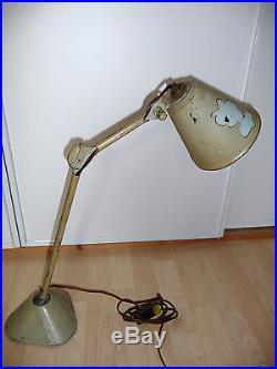 Rare lampe Gras Ravel atelier industriel jielde