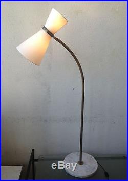 Rare lampe diabolo Guariche 1950 stilnovo moderniste Lunel vintage