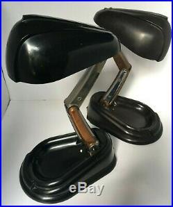Rare paire lampe bolide ancienne bakélite designer Lucidus Bloc 1944