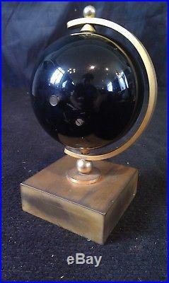 Rare pendule de bureau dorée Art Déco année 50 design mappemonde BODYA