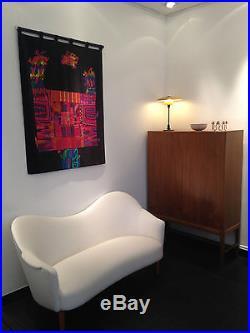 Rare sofa Samspel de Carl Malmsten en velours circa 1950