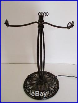 Rare très grand Pied de Lampe fer forgé Art Déco Chapelle Majorelle Keppel