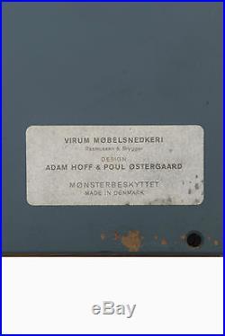Rare valet mural Danois par Adam HOFF et Poul OSTERGAARD circa 60 édition Virum