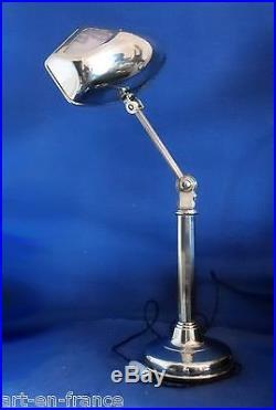 Rarissime Grande Lampe Pirouett Mouche A Decor D'hippocampe 1930 Bureau, Salon