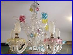Ravissant lustre en verre de murano 70