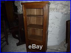 Ref 811 Petite vitrine ancienne en chêne vers 1920 Fait un peu bibliothèque