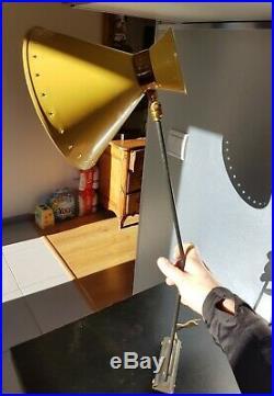 René MATHIEU Applique Murale DIABOLO bras articulés lunel 72cm design vintage