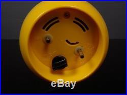 Réveil pendule BULOVA clock alarm yellow jaune design vintage 70's-80's RARE