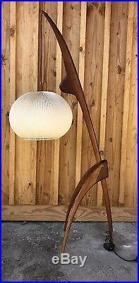 Rispal Lampadaire Vintage Lampe Mante Religieuse 1950 Mid Century