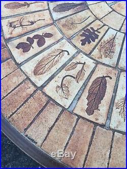 Roger Capron Table Basse Céramique Empreinte Végétale Design Vintage 1950
