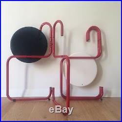 STUDIO GRAFITE / PALLUCO Set x5 Chaises POSTMODERN design Chair 1981 Memphis 80s