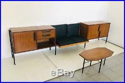 Scandinave set lounge fauteuils design hightboard vintage des années 60 antiquit