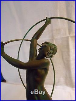 Sculpture Femme Danseuse Régule Le Verrier Fayral Art Déco Le Faguays