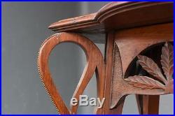 Sellette en bois époque 1900 style Art nouveau