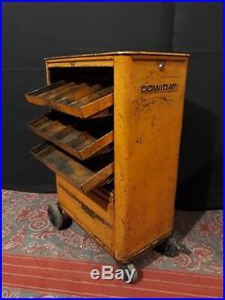 Servante d'atelier DOWIDAT orange vintage desserte déco loft garage industriel