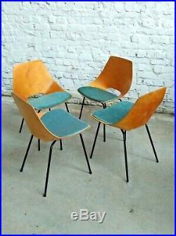 Set 4x Guariche chair steiner france 1960s