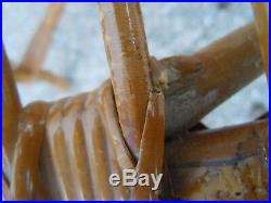 Set de 4 chaises bambou rotin vers 1950 chaise design Sognot Royère