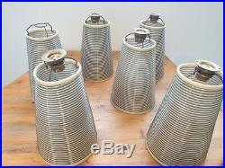 Six appliques Rotaflex 1950 ARP Guariche Motte Mortier ou Edition Disderot