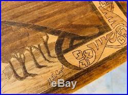 Somptueuse TABLE À THÉ VOLANTE marquetée, ART NOUVEAU signée M. L. Guyot