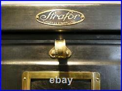 Strafor Meuble industriel vintage 30 clapets 1940s France. Mid century