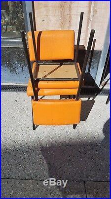 Suite de 4 chaises style Joseph-André MOTTE 1960 vintage design chairs