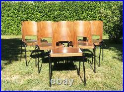 Suite de 6 chaises BAUMANN empilables Vintage An 60's 70's