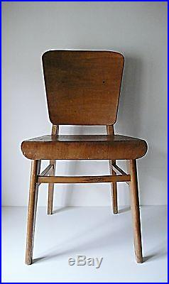 Super Chaise Standard En Bois Par Jean Prouve France 1940