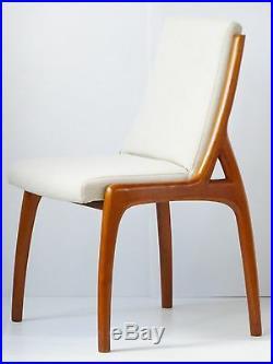 Superbe Chaise Scandinave 1980 Merisier Massif Vintage 80s Danish Chair