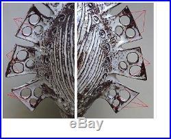 Superbe & Importante Ceramique Vase / Lampe Vintage, Dlg Derval Accolay Capron