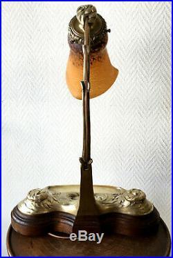 Superbe Lampe ART-NOUVEAU encrier bronze verre ANDRE DELATTE 1910/20 (Daum.)
