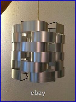 Superbe Lustre Vintage Aluminium de Max Sauze Années 70's