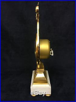 Superbe Pendule Lyre De Hour Lavigne Paris En Bronze Dore Style Louis XVI