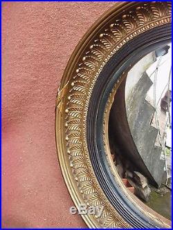 Superbe et rare miroir rond oeil de sorcière ATSONEA de Style Empire