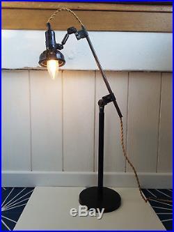Superbe lampe de métier vintage SINGER SLF-3 design industriel loft atelier