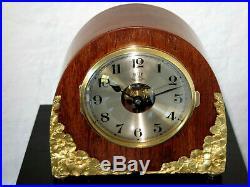 Superbe pendule electrique BULLE CLOCK modèle églantines (no Ato)