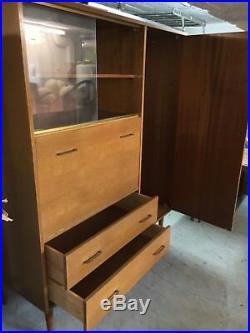 Superbe secrétaire armoire penderie des année 50 vintage style scandinave