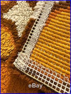 Superbe tapis en laine! Vintage Année 70's