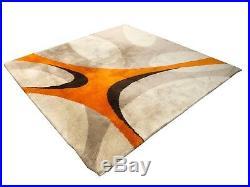 Superbe tapis en laine! Vintage Année 70's Design Victor Zigante