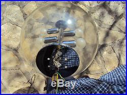 Suspension grosse boule en verre à quatre lumière vintage 1970