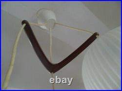Suspension lustre boomerang Vintage teck scandinave 1950 60
