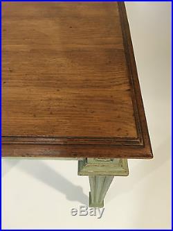 TABLE ANCIENNE 19 eme EN CHÊNE PATINÉE AVEC TIROIR DE STYLE LOUIS XVI