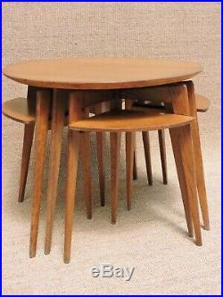 TABLE BASSE design BOUT DE CANAPÉ VINTAGE scandinave pied compas