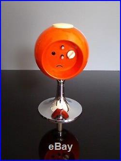TREO clock alarm orange chrome tulip reveil tulipe space age 70's vintage